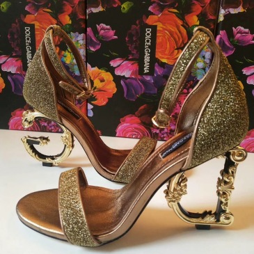 Dolce & Gabbana Shoes for Women's D&G gold sandal #9125935