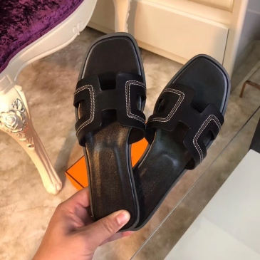 Hermes Shoes for Women's Leather slippers sizes 35-42 #99903659