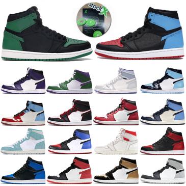 Jordan Jumpman 1s Men Jordan Basketball Shoes incredible Hulk Obsidian UNC Designer mens trainers 1 High pine green black bloodline Banned Sport Sneakers #9874151