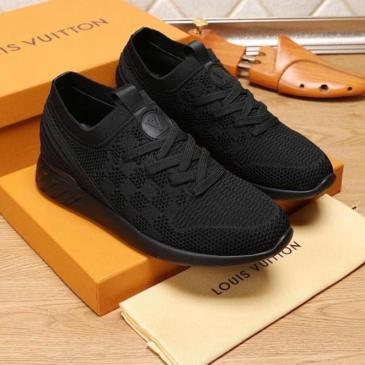 Louis Vuitton Black Shoes for Men's Louis Vuitton Sneakers #99115718