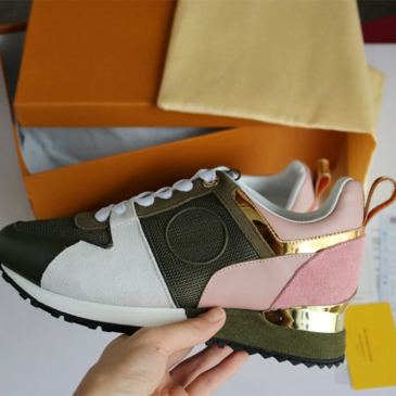 Louis Vuitton Luxury leather casual shoes Women Designer sneakers men shoes genuine leather fashion Mixed color #979820