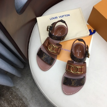 Louis Vuitton High quality leather fabric goat skin Inside Women's sandals #99874229