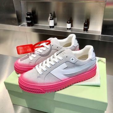 OFF WHITE Suede leather shoes for Men and women sneakers #99874560
