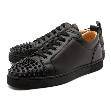Men's Christian Louboutin black low leathern Sneakers #9115970