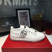 PHILIPP PLEIN new shoes Men's PHILIPP PLEIN Leather Sneakers white #9105058