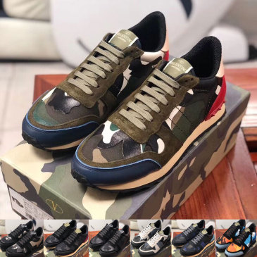 Valentino MEN's Camouflage Sneakers #9115114