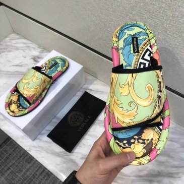 2020 5D printing New Versace Men Women Shoes Versace Slippers Non-slip indoor shoes high quality #9874650