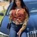 New Register Print Leopard Blouse For Women