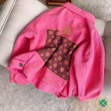 LV High-quality printed denim jacket #99117614