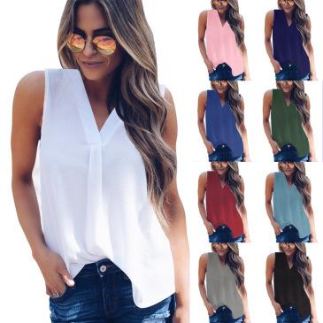 V-neck lotus leaf sleeve sleeve loose chiffon shirt shirt factory direct sales (9 colors) S-5XL-$9.9 #99904364
